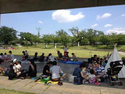 playing in the park in Inazawa